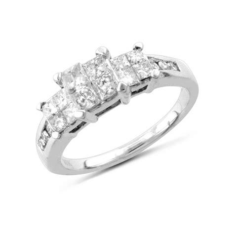 white gold one carat wedding ring sparkling