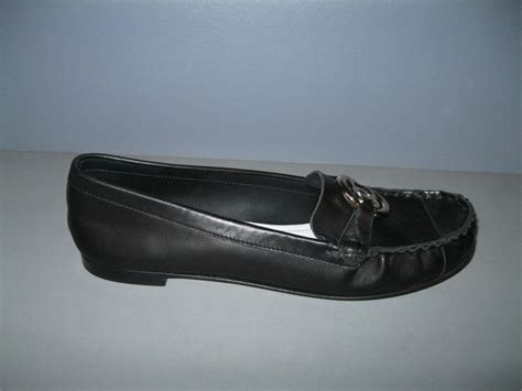 chanel moccasin loafers authentic chanel 12p new 40 black leather moccasins