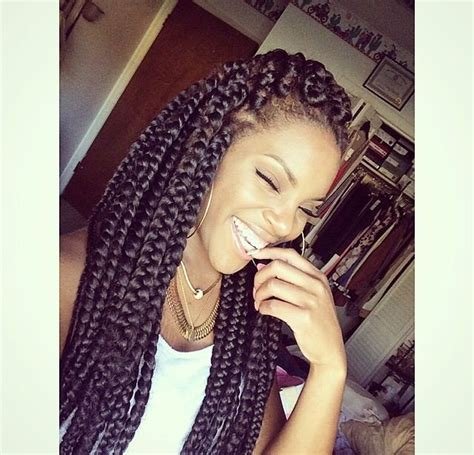 styling with big braids poetic justice box braids big braids jumbo braids