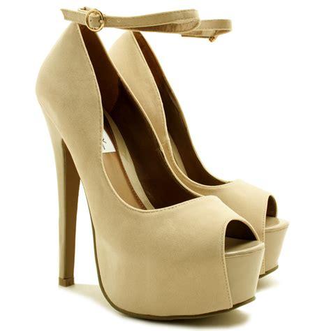 new womens stiletto heel peep toe ankle concealed