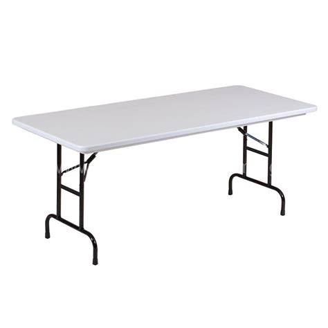 Folding Bar Height Table Folding Table Correll Ra3072 39 30 X 72 Gray Granite Folding Adjustable Height Table Bar Height