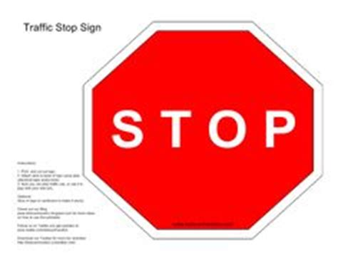 How To Make A Stop Sign Out Of Paper - 1000 images about play signs for traffic cop