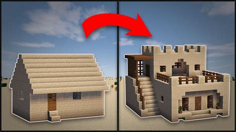 minecraft how to remodel a desert large house