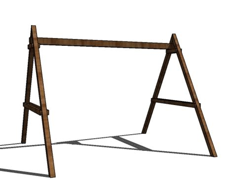 how to make a swing frame ana white how to build a swing set for the playhouse