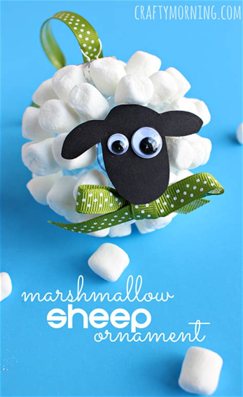 Marsmellow Oval Black marshmallow sheep ornament crafty morning
