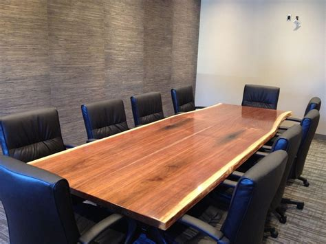 Custom Conference Tables Handmade Walnut Slab Conference Table By Bk Renovations Inc Custommade