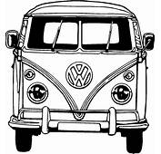 VW Bus Coloring Page  Home