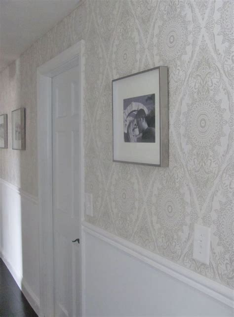 grey wallpaper hallway ideas wallpaper in hallway black pearl interiors wallpaper
