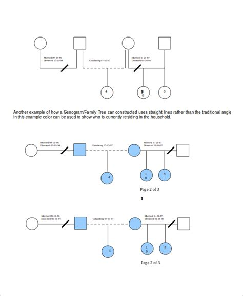 Genogram Template Free by Genogram Template 16 Free Word Pdf Documents