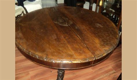 tavolo antico rotondo tavolo rotondo antico in noce massello allungabile