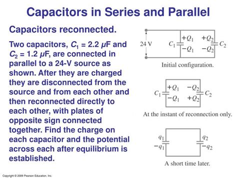 capacitors in series find charge calculate the charge on each capacitor and the potential difference across each capacitor 28