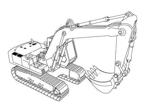 excavator coloring page printable colouring picture of a little digger coloring book excavator