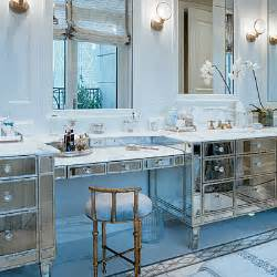 mirrored bathroom vanity contemporary bathroom