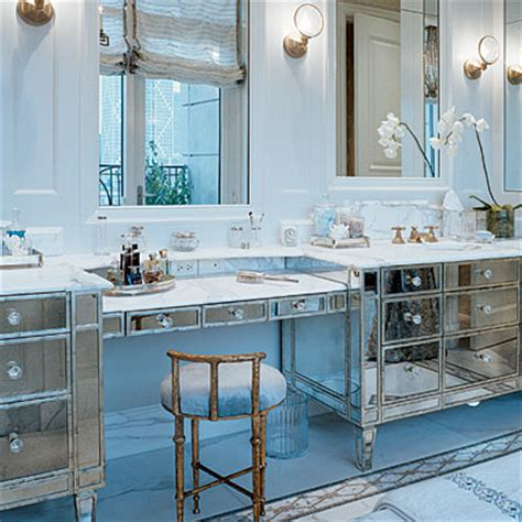 glam mirrored vanity stool glam bedroom pinterest mirrored bathroom vanity contemporary bathroom