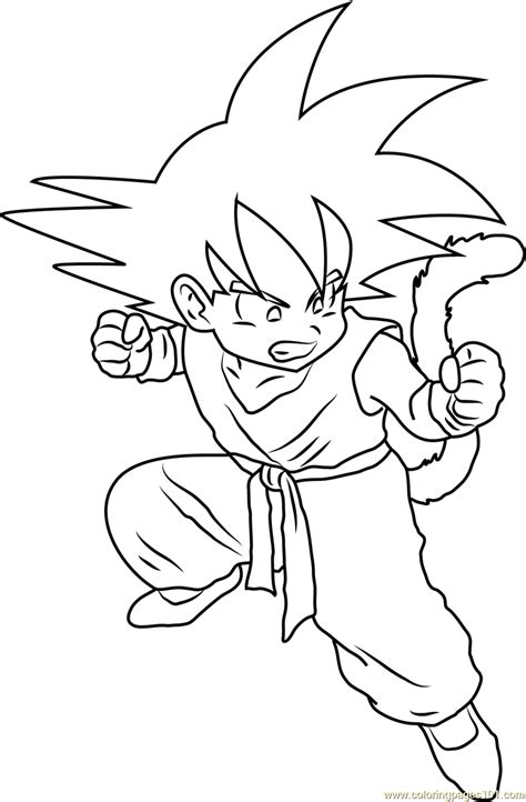 Coloring Page Goku by Angry Kid Goku Coloring Page Free Goku Coloring Pages