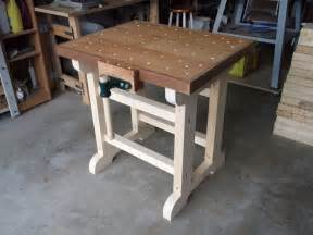 woodworking workbench design woodwork mobile woodworking workbench pdf plans