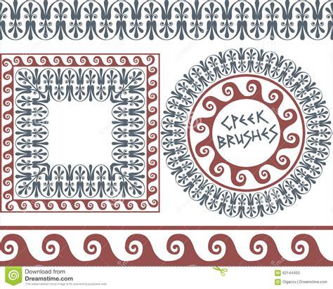 greek pattern brush set 4 brushes greek meander patterns stock vector image