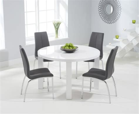 White Gloss Dining Room Furniture Atlanta Cm White High Gloss Dining Table With Cavell On Italian Lacquer Dining Room