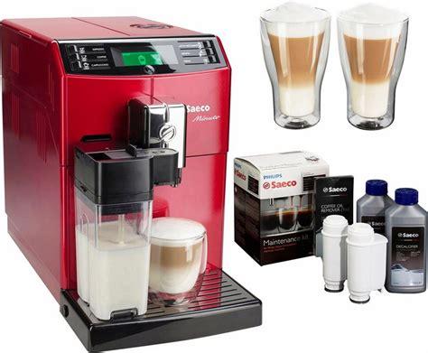 koffiemachine saeco minuto saeco kaffeevollautomat hd8867 12 minuto mit milchkaraffe