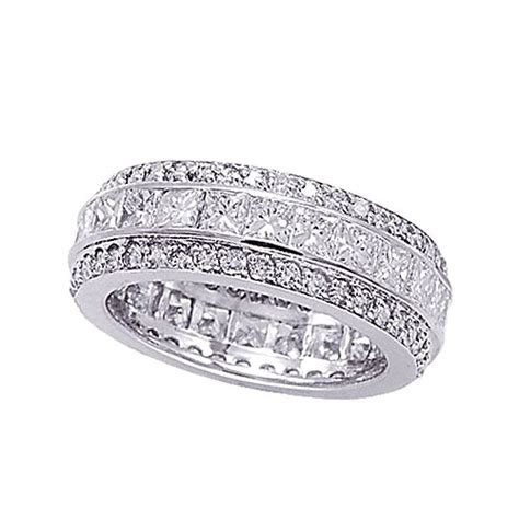 14k white gold eternity 4 92ct band ring si1 si2 g
