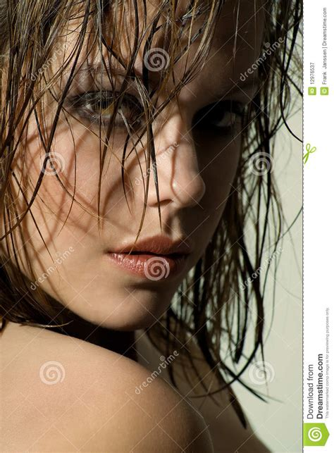 Bath Shower Seats wet hair portrait stock image image of girl stare hair