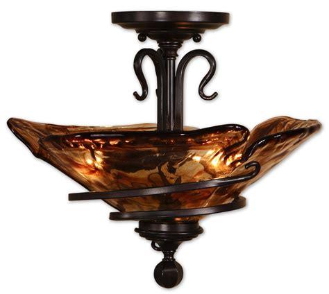 3 light semi flush mount ceiling light fixture uvu22269
