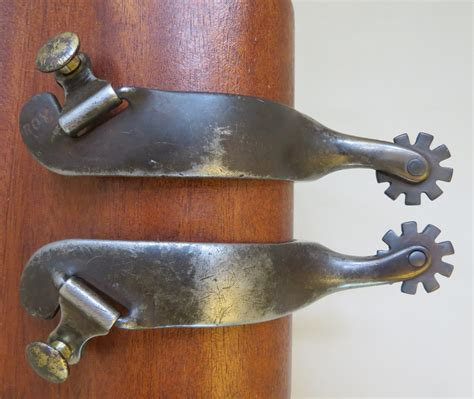 Handmade Spurs For Sale - 8971 handmade roy robinson steel spurs