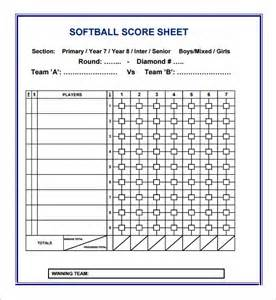 softball scorecard template baseball score card home free printable sle 2016 car