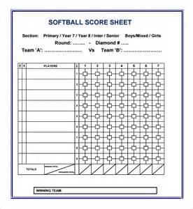 softball scorecard template pin printable baseball score sheet on