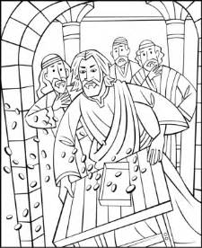 free sunday coloring pages jesus cleansing the temple