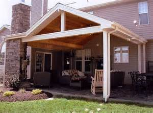 hip roof with wood ceiling patio backyard ideas