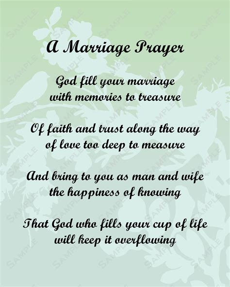 Wedding Anniversary Prayer Quote by A Poem For And Groom Marriage Prayer Poem