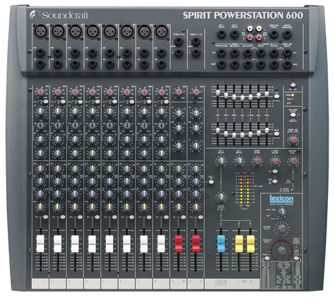 Mixer Audio Professional spirit powerstation 600 soundcraft professional audio