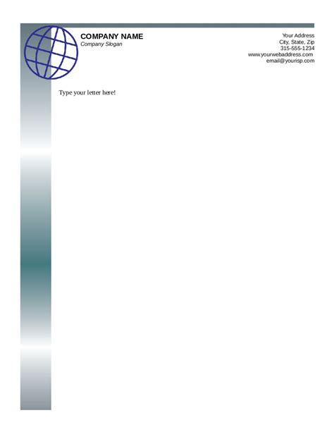 business letterhead pages free business letterhead templates printable