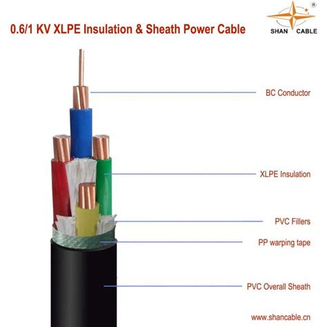 power cable cross section low voltage xlpe insulated power cable 5 core copper
