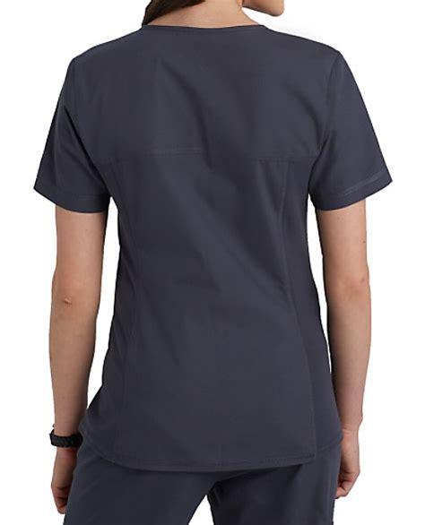 knit scrub tops flexibles v neck knit panel scrub tops scrubs