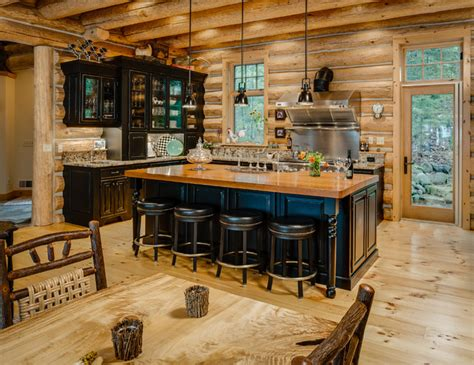 wilderness softened rustic kitchen other by b c d