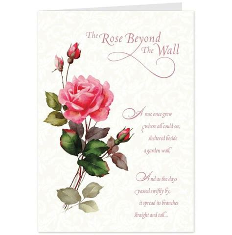 card for sympathy beyond message on flowers the wall