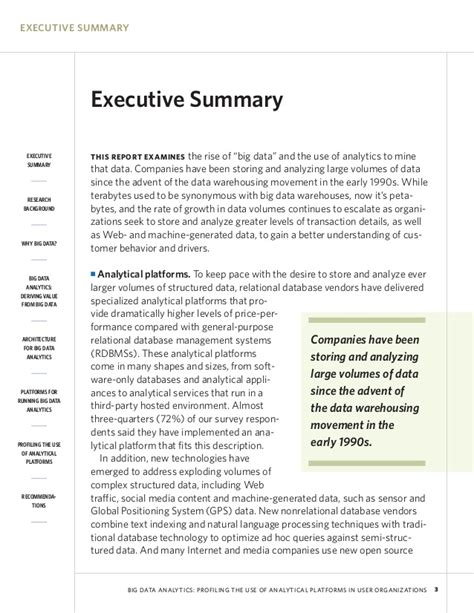 big data analytics research report