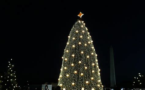 visiting national christmas tree at night mlewallpapers national tree and washington monument at