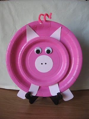 Dust Pluggy Piggy Pig dandelions and dust bunnies craft piggy paper plate crafts ps i