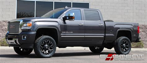 Blackout Blazer Series 20 inch fuel road assault black milled on 2015 gmc