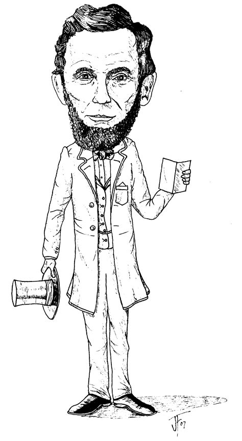 free coloring pages of abraham lincoln hat