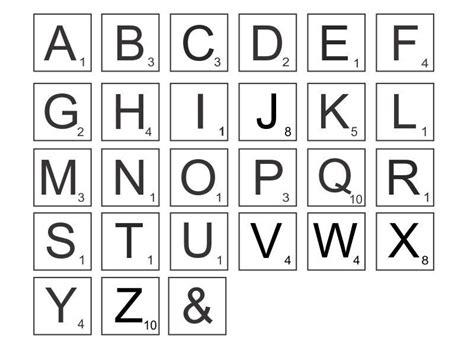 scrabble template printable printable scrabble letters sle letter template