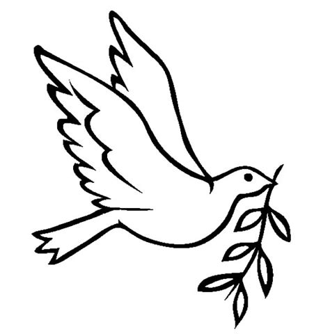 Dove Bird Fly With Olive Leaves Coloring Pages Free Free Printable Leaf Coloring Pagesll L