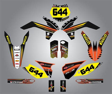 Ktm Factory Aufkleber by Custom Graphics For Ktm 125 Sx 2013 Factory Style
