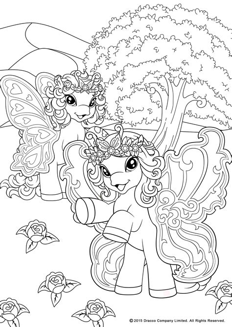 my filly world pony toys coloring pages butterfly by