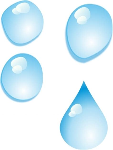 clipart acqua clip set di gocce d acqua clip clip