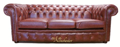 chesterfield settees chesterfield 3 seater old english chestnut leather wc gif