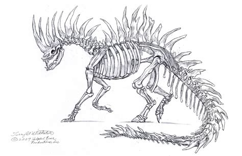 skeleton dragon coloring page drawn skeleton dragon pencil and in color drawn skeleton